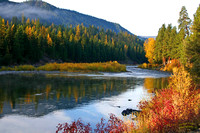 Blackfoot River MT Fall Foliage