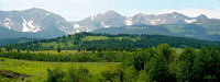 A panorama view of the Bridger mountain of Montana