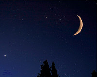 Cresent Moon, Venus, Saturn, Orion Aug 12 1-3